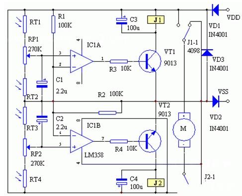 太阳能自动跟踪控制器的工作原理